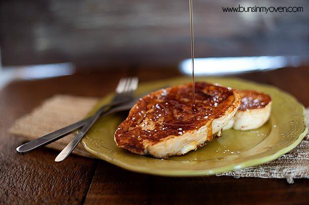 Eggnog French Toast #recipe by bunsinmyoven.com #DarlingDozen