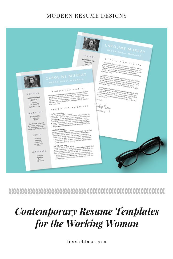 Modern Professional Resume Template Resume Designs For Modern