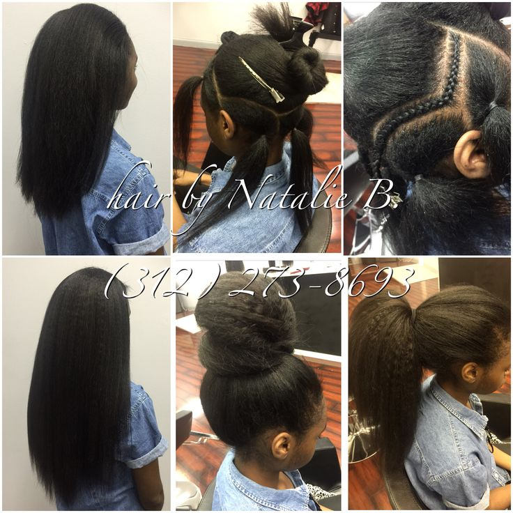 Not everyone who gets a weave has damaged or short hair....sometimes, I come across a client who has long hair already, but wants to add just a bit more length, and put away most of their natural hair. The top left hand photo is my client's natural hair, and the bottom left hand photo is an image of her with her new sew-in installed. She is wearing 2 1/2 bundles of Natural Kinky hair. ❤️❤️❤️ PERFECT PONY SEW-IN HAIR WEAVES by Natalie B. (312) 273-8693...IG: @iamhairbynatalieb...FACEBOOK…