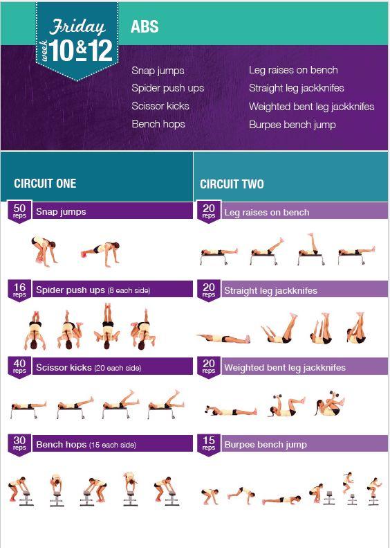 Kayla Itsines - Week 10 & 12 Friday Workout