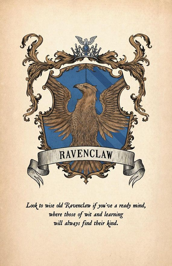 Ravenclaw House Crest Print Harry Potter Poster Harry Potter Wallpaper Harry Potter Drawings