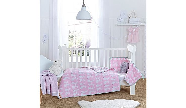 Clair De Lune Rabbits Cot & Cot Bed Quilt and Bumper Set, read reviews and buy online at George at ASDA. Shop from our latest range in Baby. Snuggle your bab...