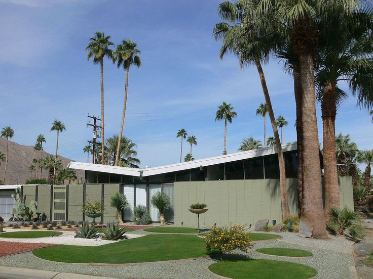 110 best contemporary mid century modern house exterior for New modern homes palm springs