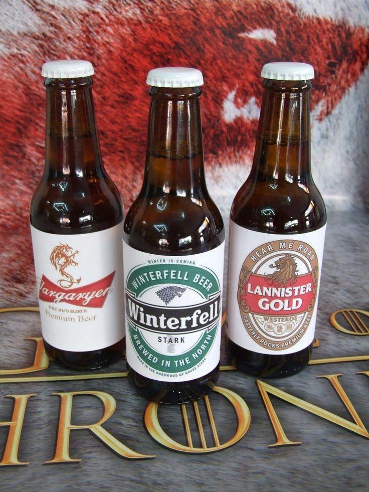 Pack de 3 Cervezas Juego de Tronos. Casas Targaryen, Lannister e Invernalia