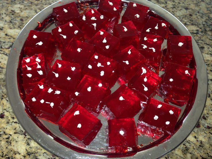Jell-O Dice | Dice Jell-O shots for casino party or game night! More