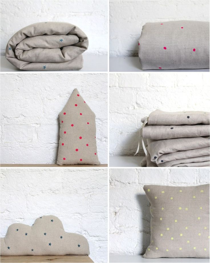 Super stylish and elegant polka dotted bed linen for toddlers and babies from Australian designer Hello Milky. I'm in love...
