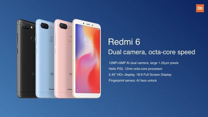 Xiaomi Brings The Redmi 6 Redmi 6a And Redmi 6 Pro To India Xiaomi Samsung Galaxy Phone Smartphone
