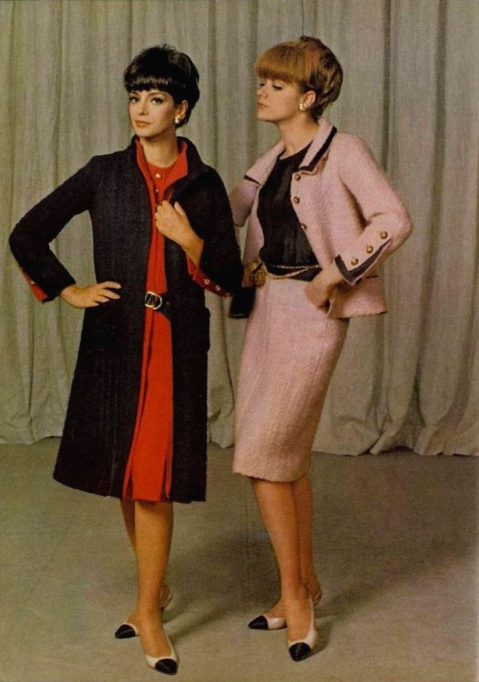 Chanel 1965 vintage fashion trends pinterest