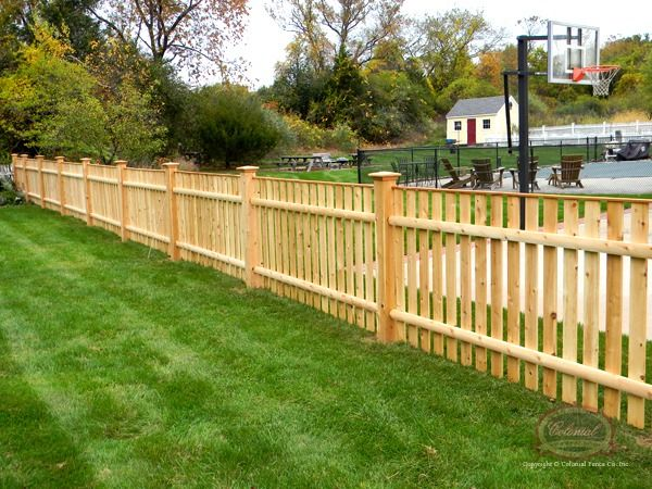 Open Spaced Picket Colonial Fence Co Norfolk Ma
