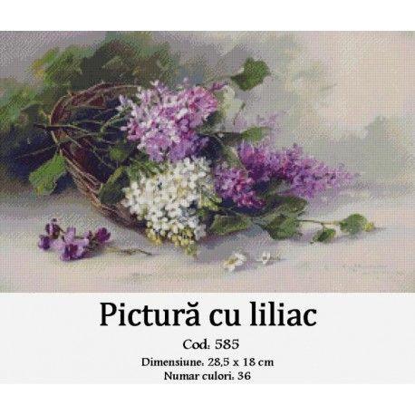 Seturi goblen Pictura cu liliac http://set-goblen.ro/flori/3564-pictura-cu-liliac.html