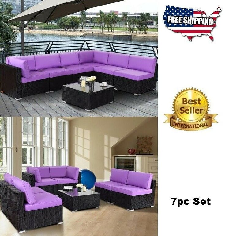 Patio Furniture Clearance Set Rattan Wicker Convertible ...