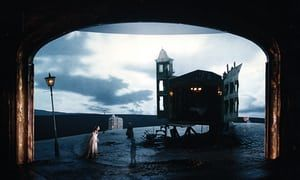 8 8 An Inspector Calls, with set, costume and lighting design by Ian MacNeil and Rick Fisher, opened at the National Theatre in 1992. JB Priestley's play was directed by Stephen Daldry. MacNeil said: 'We used the idea that a performance can exist in three time periods simultaneously'
