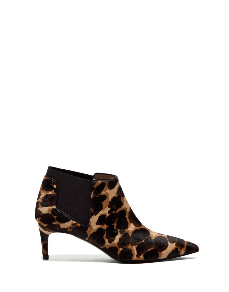 LULY HIGH ANKLE BOOTS IN SPOTTED PONYSKIN - Shoes Woman - Alberto Guardiani