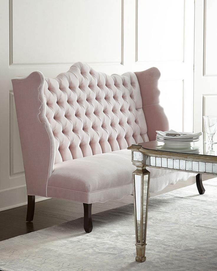Isabella Blush Banquette by Haute House at Neiman Marcus.