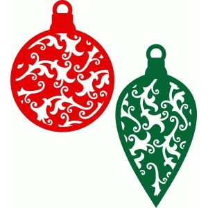 Silhouette Design Store - View Design #68584: christmas ornaments damask