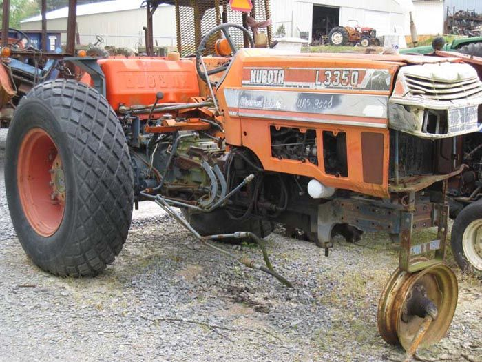 This tractor has been dismantled for Kubota 3350 tractor parts.  #kubota #tractor #parts