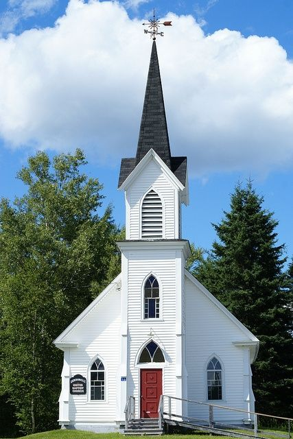 old country churches pinterest | Old country church in New Brunswick | Come Let Us Worship Together