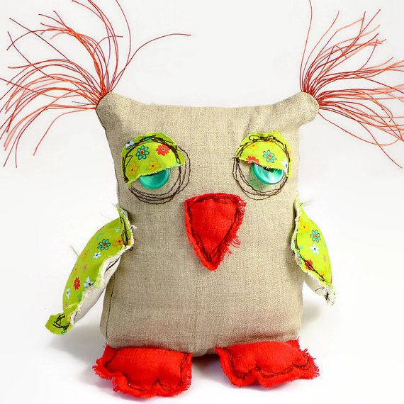 Stuffed Owl Toy. Owl Doll. Plush Owl. Child's Gift. Home Warming Gift