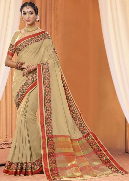 http://bit.ly/2mLqvwR#purecottonsaree#printedworksareeforwomen#latestdesignersaree#cottonsareesladyndia.com