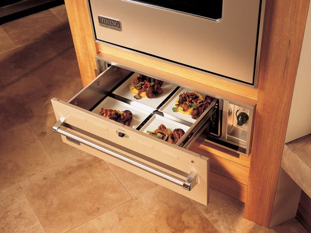 Warming Drawer. So convenient! (From Viking) Luxury Appliance Ideas from HGTV http://www.hgtv.com/kitchens/dreamy-kitchen-appliances/pictures/page-7.html?soc=pinterest