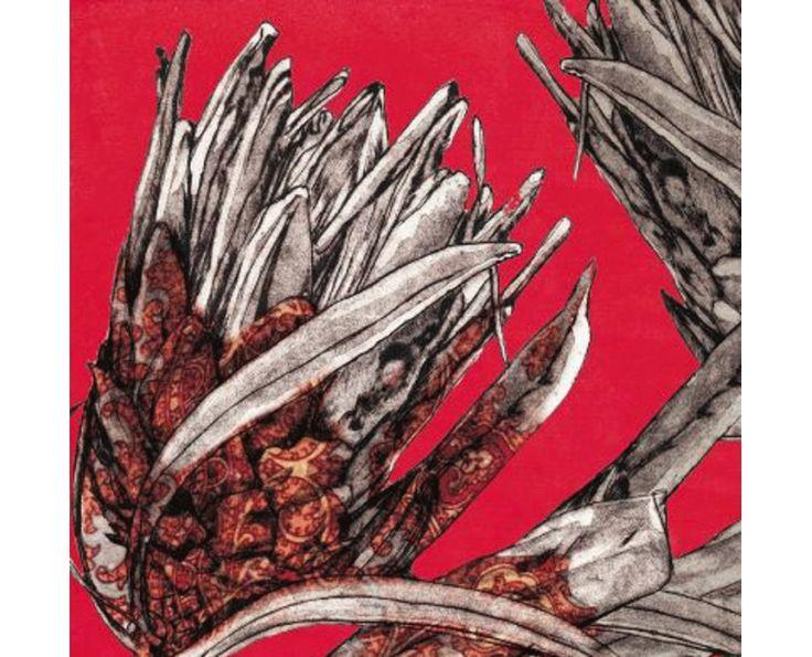 Protea RedPattern Artwork - Wall Artwork   Weylandts South Africa