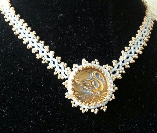 Beaded around glass bead