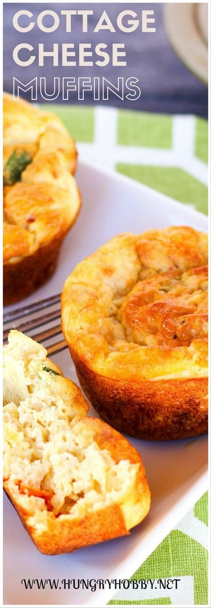 COTTAGE CHEESE EGG MUFFINS for a healthy breakfast @hungryhobby