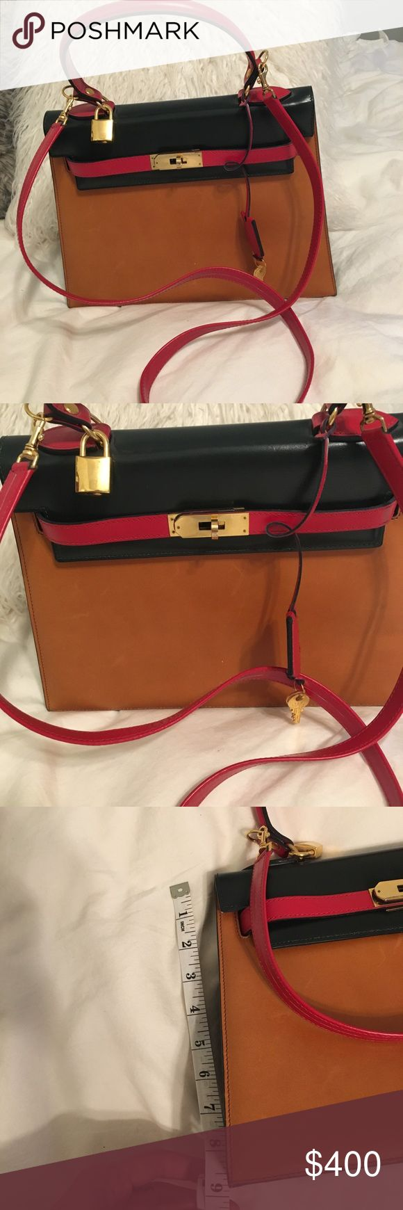 """Kelly Bag 9""""x11"""" Small handle depth: 4"""" Shoulder strap depth: 20"""" Some scratch marks  Made and purchased in France.  Pierre Guijarro Pierre Guijarro Bags Crossbody Bags"""