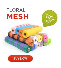 Deco mesh wrap at discounted price.