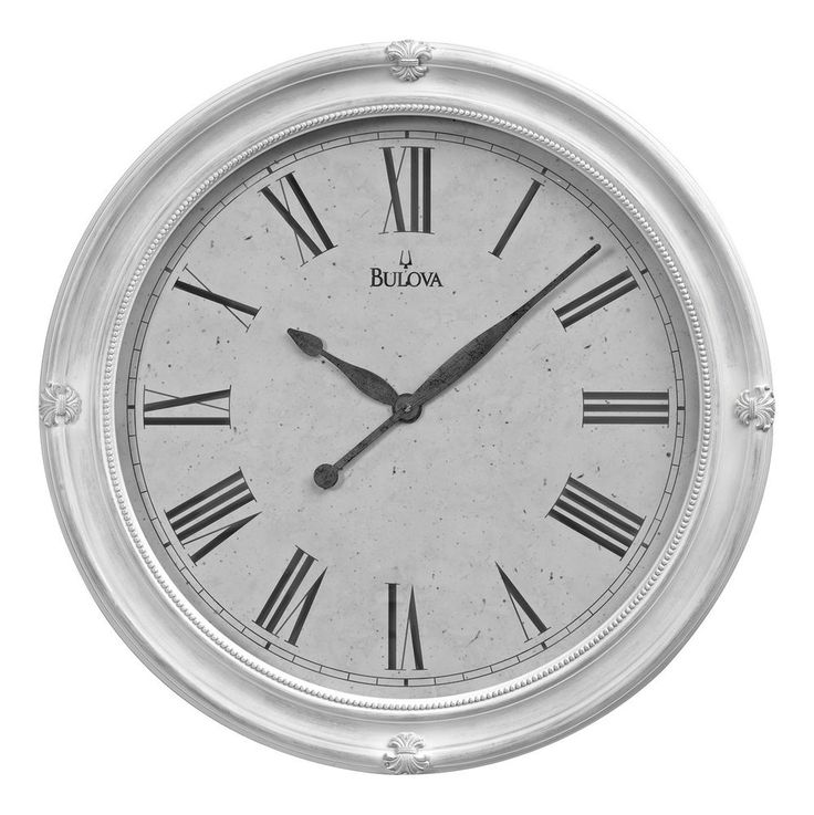 $177.22 and $36.20 shipping  Bulova HAZELTON 27.5″ Round Wall Clock, C4109 #Bulova #Wall