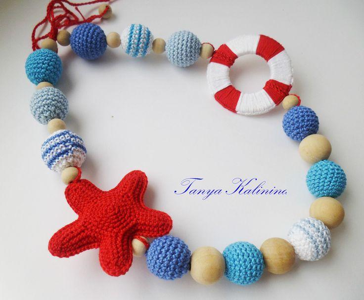 #слингобусы в морской тематике🌴🐠💦  #kalinina_toys #слингобусыдлядетей #слингобусы #слингобусыпермь #мамабусы #мелкаямоторика #вяжуназаказ #бусыдлядетей #knitting