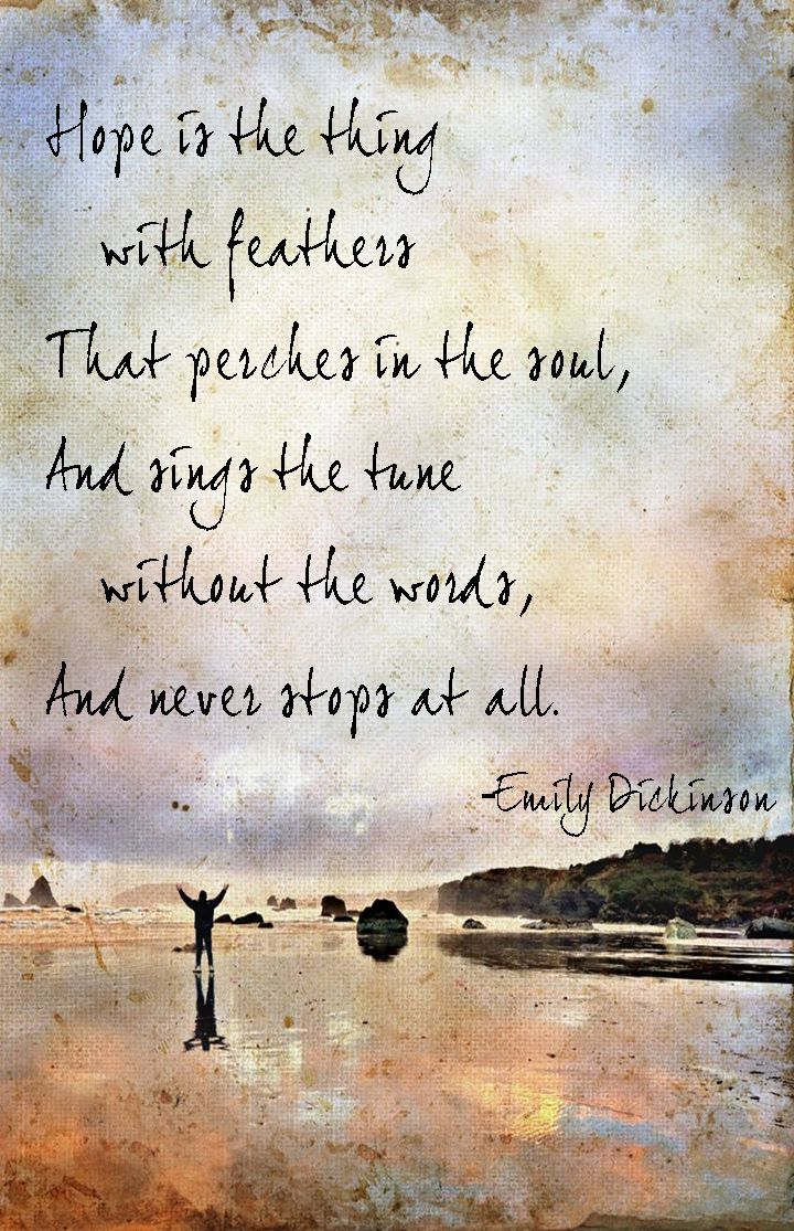 On Hope, by Emily Dickinson