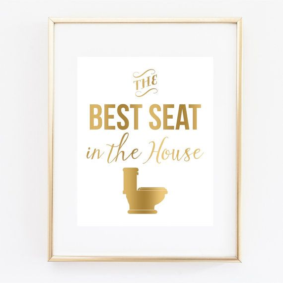 Bathroom Wall Art The Best Seat In The House Art Print Bathroom Decor Bathroom Humor Bathroom Decor Funny Art Bathroom Art