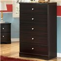 Embrace 5 Drawer Chest by Signature Design by Ashley - Beck's Furniture - Chest of Drawers Sacramento, Rancho Cordova, Roseville, California