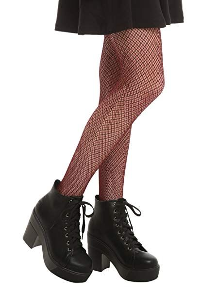 46b9b252d6d9a LOVEsick Burgundy And Black Fishnet Tights | Best Selling in Junior ...
