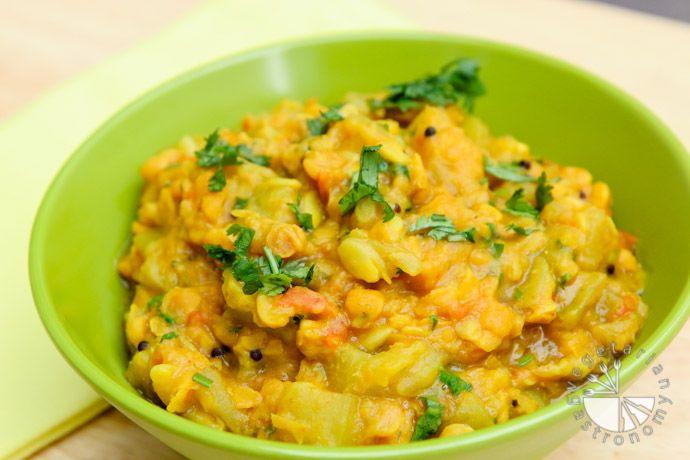 Curried Opo Squash w/ Chana Dal (vegan, gluten-free) - Vegetarian Gastronomy