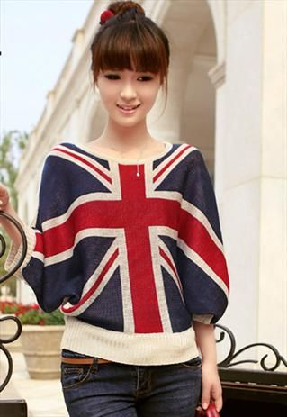 Union Jack Bat Wing Jumper