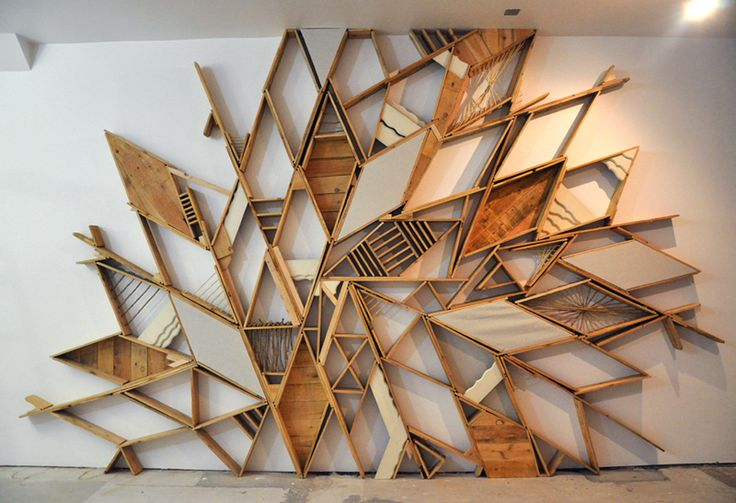 Candystore Collective in San Francisco   Christopher BettigWall Art, Pallets Wall, Wood Design, Bookcas, Wood Shelves, Christopher Bettig, Wood Wall, Shelves United, Wall Design