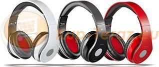 Słuchawki do smartphone i tabletów AUDIOFEEL czerwone Rebeltec