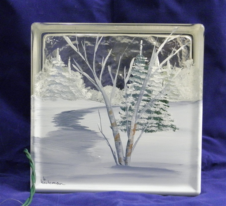 Glass Block Light-Winter Path. $34.00, via Etsy.