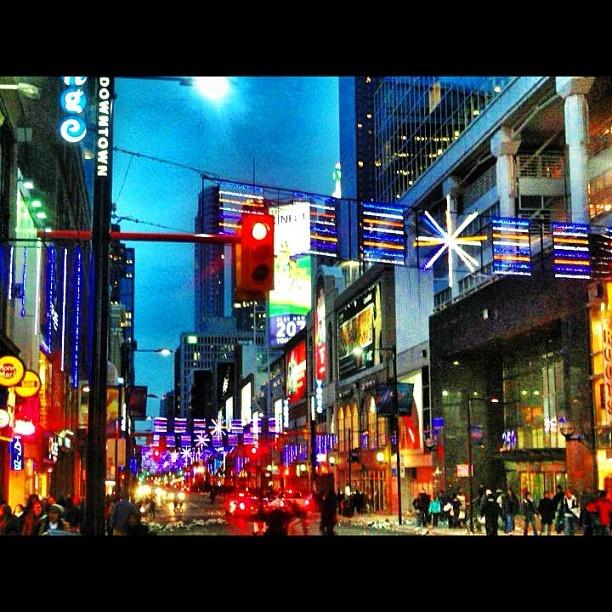 The vibrance of Yonge Street - Toronto, Ontario