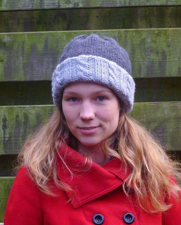Double knit hat knitting pattern