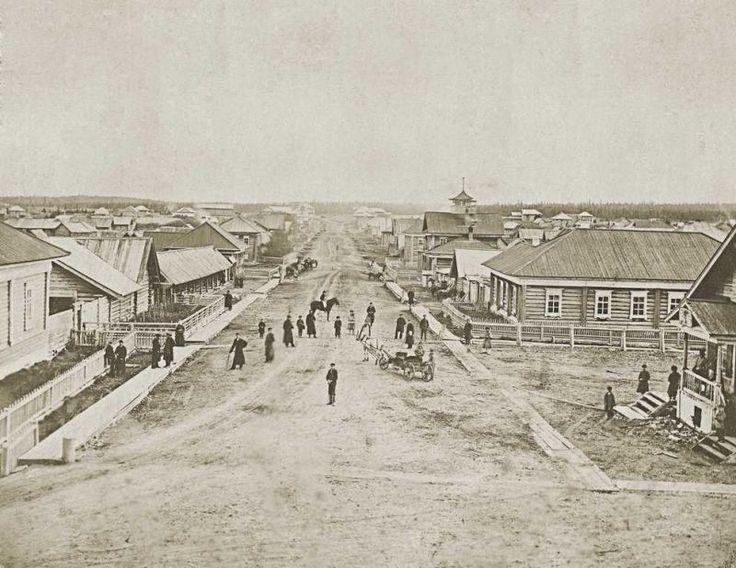 Билимбаевская - главная улица села Кува. 1927 г.