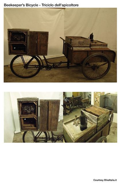 One of many treasures in Nello Sandrinelli's collection of WWII-era cargo bikes in Lecco, Italy.