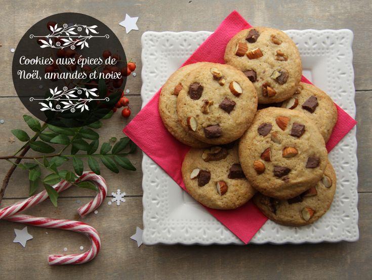 Cookies aux épices de Noël, amandes et noix