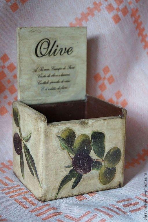 Купить Короб для кухни Оливки - бежевый, банки для специй, короб для кухни, короб для продуктов, оливки