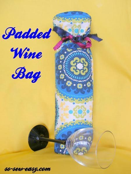 Wine Bag Pattern So Sew Easy