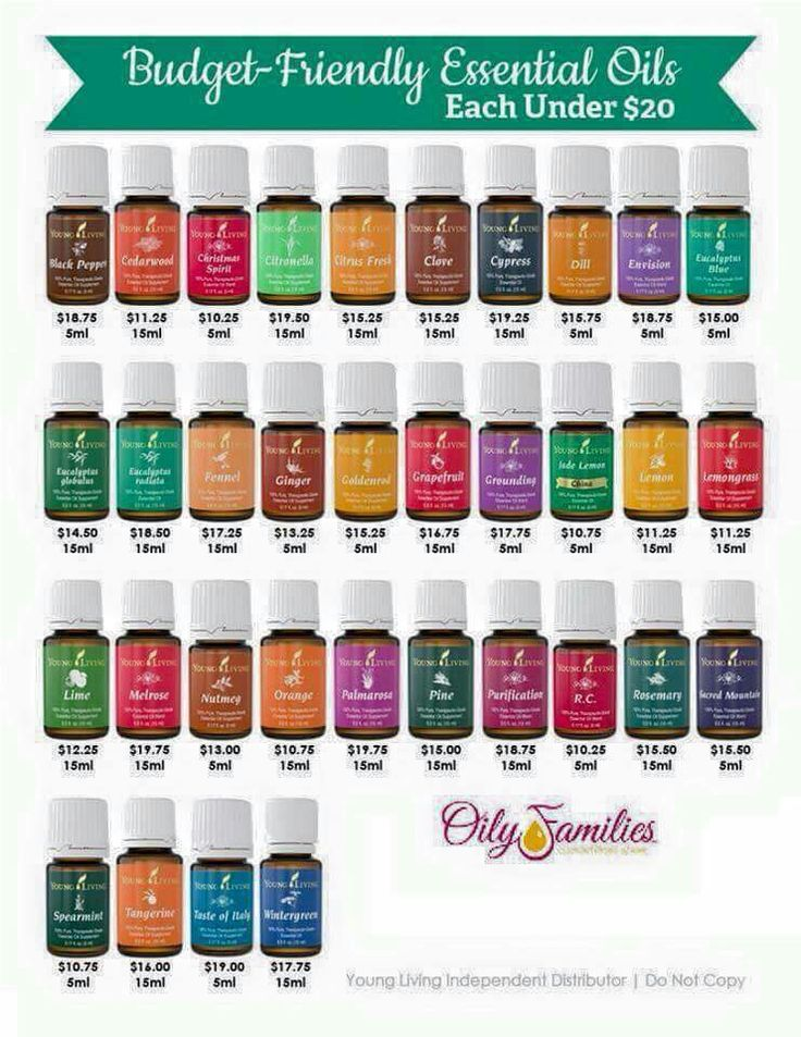 Young Living oils, each under $20.