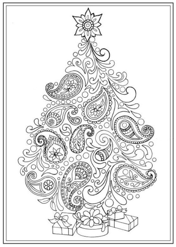 Coloriage zen coloriage pour les grands christmas tree coloring page coloring pages et - Coloriage pour les grands ...