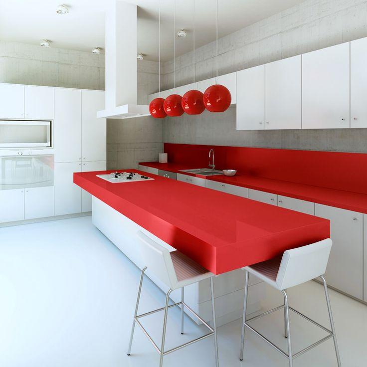 Gi kjøkkenet et moderne uttrykk med fargerike benkeplater i kvartskompositt fra Ellingard Collection! Klikk for mer inspirasjon og info.